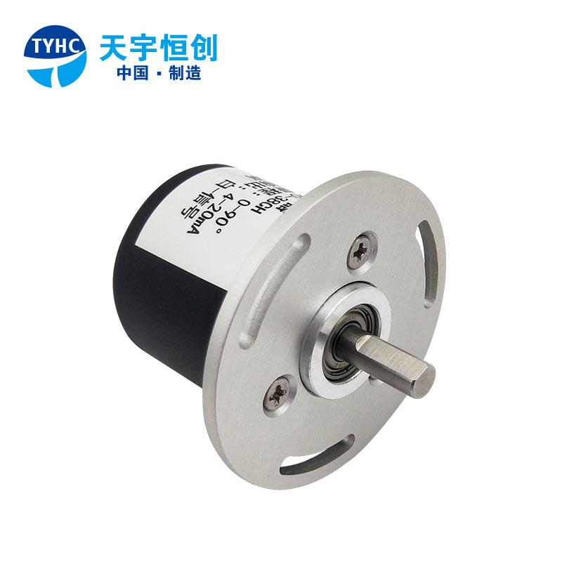 高精度角度传感器MCJSI 420A角位移变送器4-20mA法兰安装0-360°