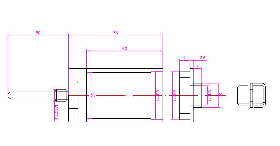 CYT9230 振动温度一体式变送器_振动温度传感器
